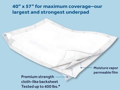 Covidien Premium Disposable Underpads 40x57, case of 30
