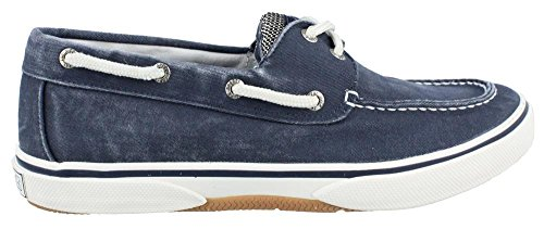 (Sperry Top-Sider Men's Halyard 2-Eye Lace-Up,Navy/Honey,13 M US)