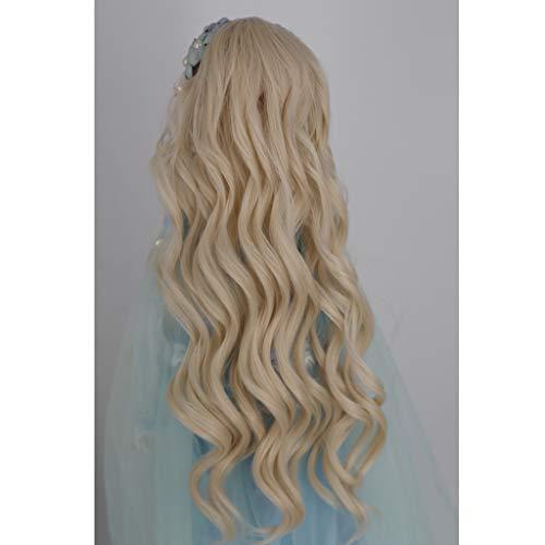 Prettyia Sweet 1/3 BJD Girl Dolls Wave Wig Super Dollfie Wig Curly Long Hair -