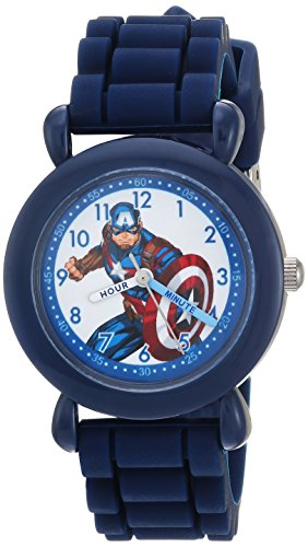 Marvel Boy's 'Avenger' Quartz Plastic and Nylon Casual Watch, Color:Blue (Model: WMA000233)