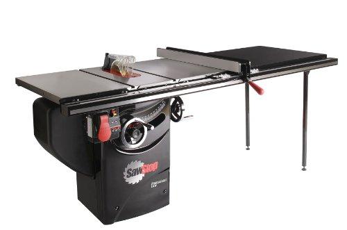 SawStop PCS175-TGP252 1.75-HP Professional Cabinet Saw Assembly with 52-Inch Professional T-Glide Fence System, Rails and Extension Table For Sale
