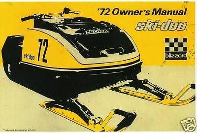 (1972 Bombardier Ski-Doo Blizzard Racing Snowmobile Manual (833))