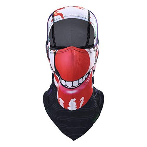 Balaclava Clown Mask - Original Hand Painted Motorcycling Cycling Full Face Head Hood -