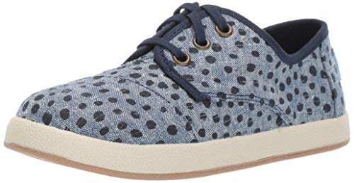 TOMS Girls' Paseo Sneaker, Cornflower slub Chambray Torn dots 420, 3 Medium US Little Kid