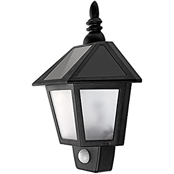 led solar wall lamp outdoor wall sconce solar motion sensor light security night lighting auto on