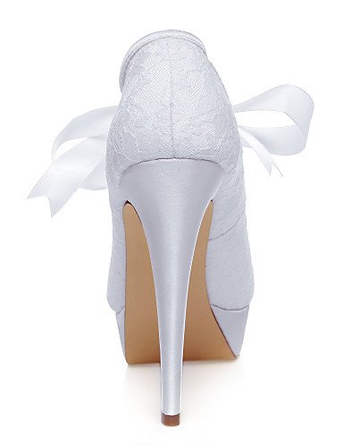 5in blanco white Noche tacones Y De Boda amp; Zapatos boda sandalias Fiesta Over Zq Vestido mujer zqvnB7w