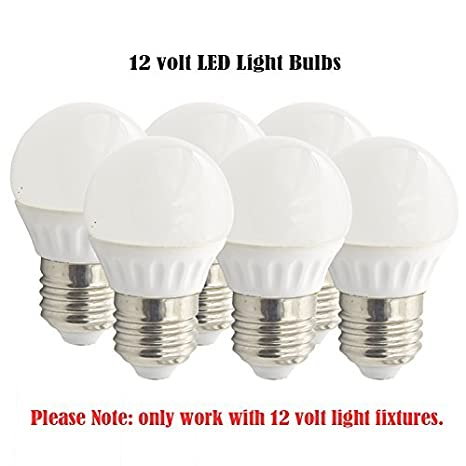 12 Volt LED RV Light Bulbs, Low Voltage, 12V AC/12V DC, Soft White, Medium Screw E26 Base, Equal 25W Bulb For Vehicle, Interior RV And Boats, ...