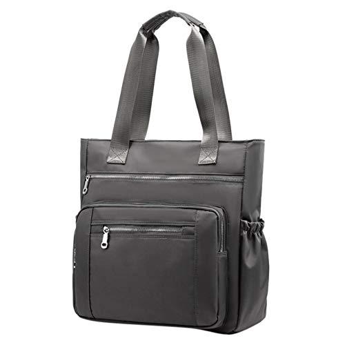SSYongxia Waterproof Nylon Oxford Multi-Pocket Tote Shoulder Bags Travel Laptop Briefcase Work Handbags for Women & Men Gray from SSYongxia_Bag