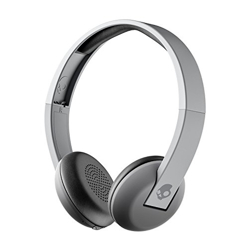 Skullcandy Uproar Bluetooth Wireless On-Ear Headphones with Built-In Microphone and Remote, 10-Hour Rechargeable Battery, Soft Synthetic Leather Ear Pillows for Comfort, Gray Fade