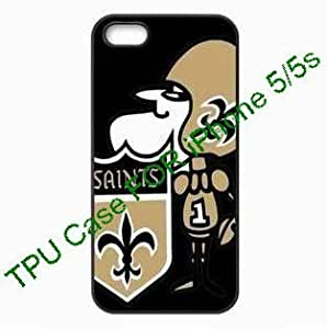 Christmas gifts iPhone 5/5S New Orleans Saints TPU case Fitted iPhone protector Cases