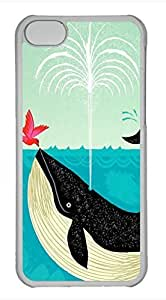taoyix diy iPhone 5c case, Cute Whales And Bird iPhone 5c Cover, iPhone 5c Cases, Hard Clear iPhone 5c Covers