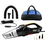 LEAJIA Car Vacuum Cleaner,4 in 1 Handheld Vacuum Portable Vacuum Wet/Dry DC 12V 100W 3500 Pa High Power Car Vacuum Cleaner,With Tire Inflator,Tire Pressure Gauge ,Floodlight