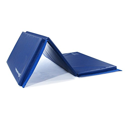 We Sell Mats Thick Gymnastics Tumbling Exercise Folding Mat, Blue, 4' x 6' x 1.5'' by We Sell Mats (Image #1)