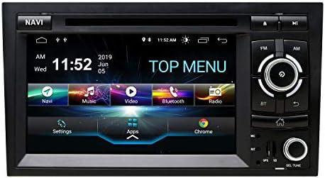 Swtnvin Android 10 Auto Audio Stereo Kopfeinheit Passt Für Audi A4 Dvd Player Radio 7 Zoll Hd Touchscreen Gps Navigation Mit Bluetooth Wifi Lenkradsteuerung 2gb 16gb Navigation