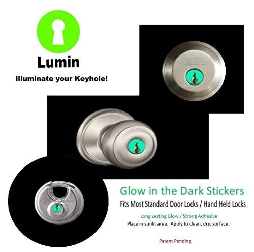 Glow in the Dark Keyhole Stickers]()