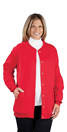 Baseball Style Jacket Red Lightweight
