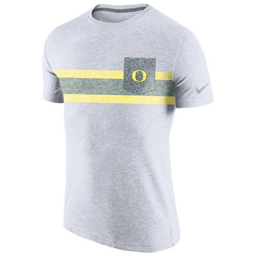 Oregon Ducks Nike Tri-Blend White Vibe Pocket T-Shirt (Nike Tri Blend Fan)