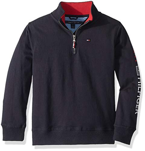 - Tommy Hilfiger Little Boys' Long Sleeve Half Zip Pullover Sweater Swim, Zip Swim Navy, 5