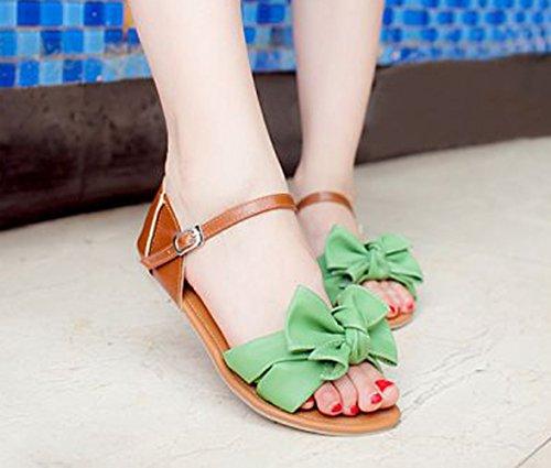 Verde verde de Sintético vestir de para Sandalias Material Insun mujer q1F8Ra1