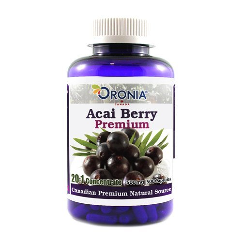 Acai Berry Concentrate (ORONIA Acai Berry Premium 20:1 Concentrate, 500mg 500 Capsules)