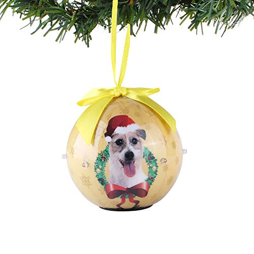 2018 Newest Christmas Dog Collection Shatterproof Ball Ornaments with Twinkling Lights, Beautiful Decorative Hanging Pendants for Home Garden Patio Indoor & Outdoor Decorations (Jack Russell)