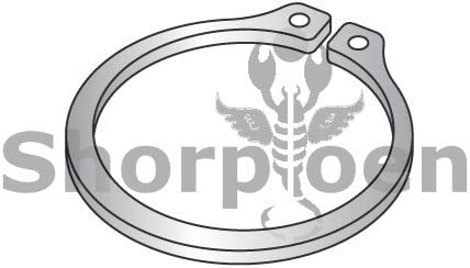 1.750 External Retaining Ring Stainless Steel Box Quantity 100 by Shorpioen BC-175REXSS
