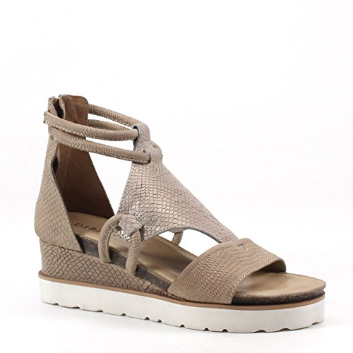 Diba True Green Clover Wedge Sandal (6.5, Beige/Gold - Clover Footwear