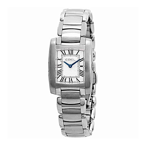 Ebel Brasilia Silver Dial Stainless Steel Ladies Watch 1216033