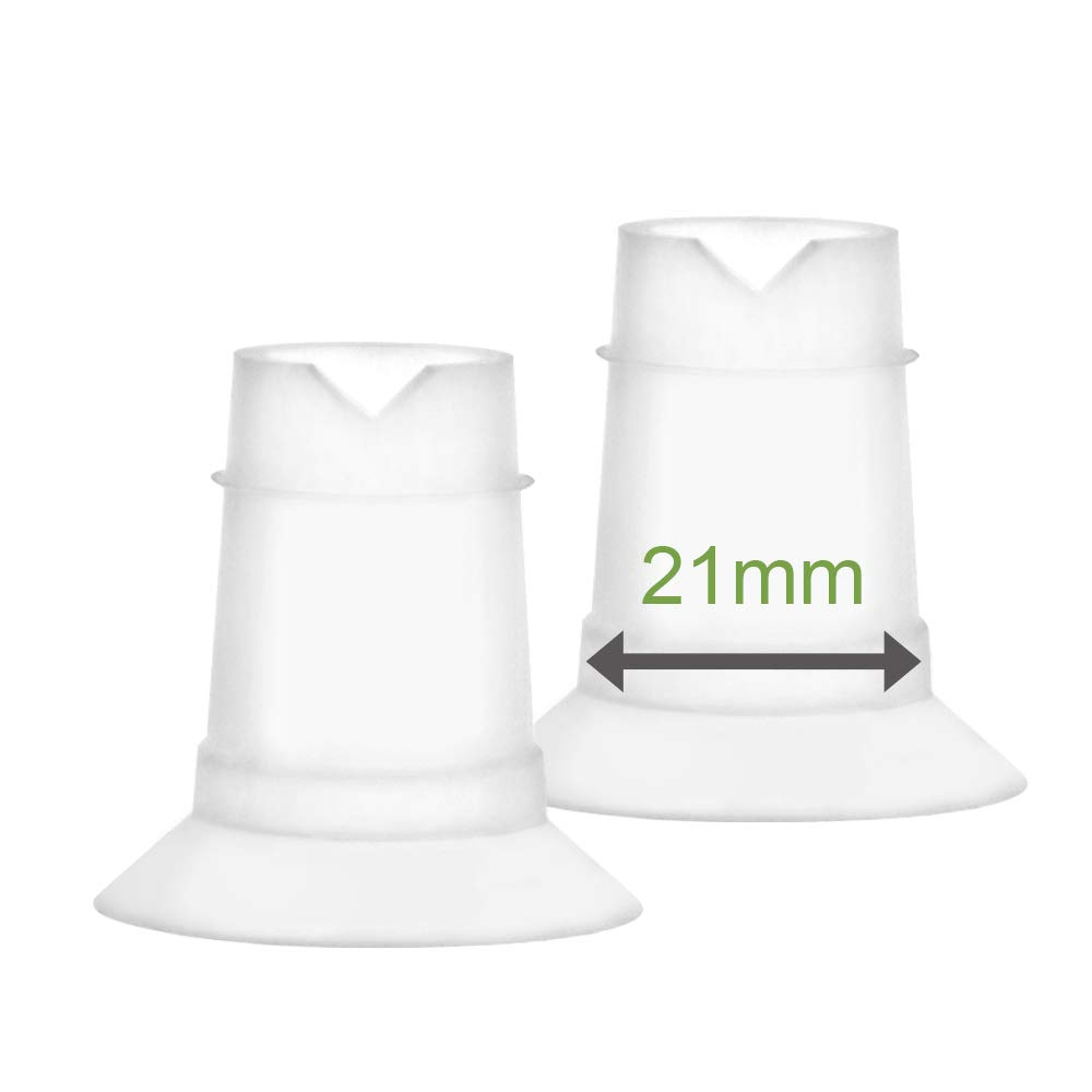 Maymom Flange Inserts for Freemie Flanges (21 mm); Small Inserts for Freemie Collection Cups by Maymom
