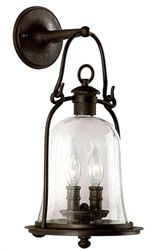Troy Landscape Lighting - Troy Lighting Owings Mill 2-Light Outdoor Wall Lantern - Natural Bronze Finish with Clear Seeded Glass