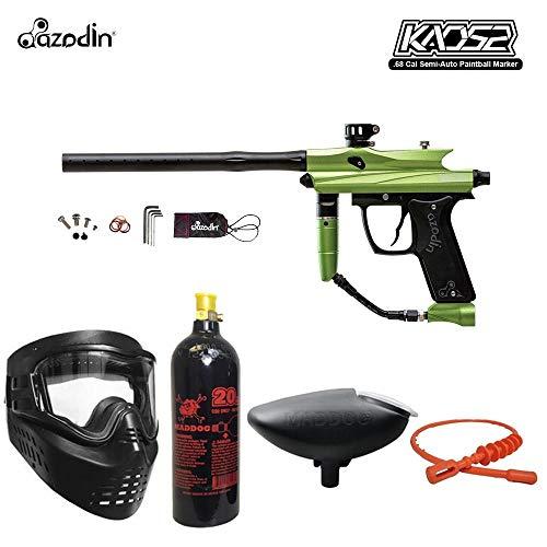 MAddog Azodin KAOS 2 Bronze Paintball Gun Package - Green/Black (Spyder Paintball Gun Green)