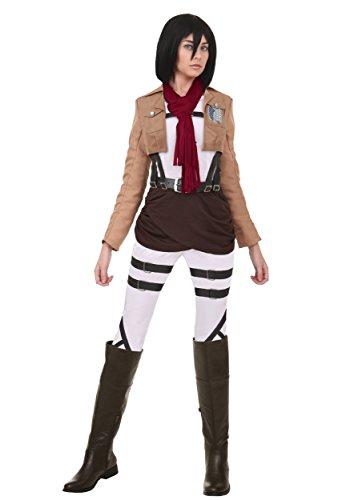 Fun Costumes Womens Attack On Titan Mikasa Costume (Attack On Titan Costume Mikasa)