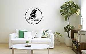 US Navy Seabees Logo Military Art Vinyl Decor Wall Living Room Garage Man Cav by Big-O Decals