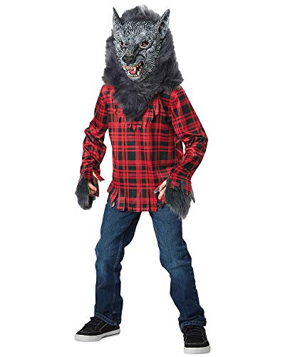 Seasons Direct Halloween Boys Gray Werewolf Costume (M(8-10))