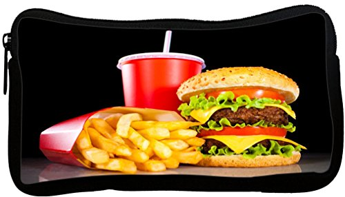Rikki Knight Burgers and Coke Design Neoprene Pencil Case - Coke Design