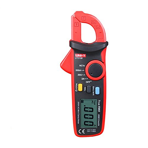 UNI-T UT210B True RMS 200A AC Mini Clamp Meters Ammeter NCV Test Professional Multimeter Digitais LCD Backlight MAX MIN