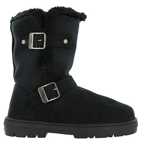 Black ALEX NEW BUCKLES LADIES 2 BOOTS ELLA FUR VEGAN GREY BROWN SUEDE BLACK CHESTNUT CALF 4qW6n1U4