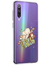 Oihxse Compatible con Huawei Honor 8C Silicona Funda Transparente Gel TPU Flexible Protectora Carcasa Dibujos Elefante Patrón Ultra Thin Estuche Cover Case(D7)
