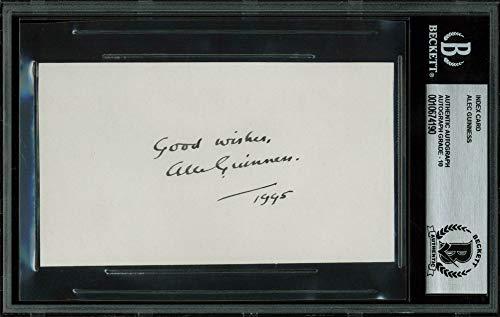 ars Autographed Signed 3X5 Index Card Auto Graded Gem Mint 10 Bas Slab ()
