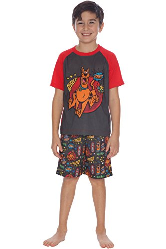 - Scooby Doo Boys 'Mystery Machine Pajama Short Set, Red, 6/7