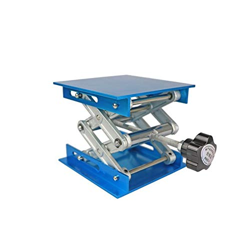 Lab Jack Stand Table Lift Laboratory Lift Table Aluminium Oxide Lab Stand Lifter Scientific Scissor Lifting Jack Platform (4''X4'') ()