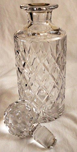 (Vintage Royal Doulton Cut Crystal Georgian Round Decanter)