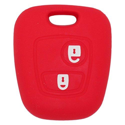 Fassport CV7300 Coque en silicone pour clé de voiture plip à télécommande à 2 boutons - Pour modèles Peugeot et Citroën