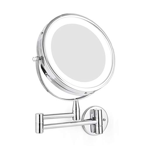 Wall Mounted LED Magnifying Mirror 5X Makeup 8