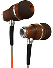 Symphonized NRG 3.0 Premium Wood In-ear Noise-isolating Headphones, Earbuds, Earphones with Mic & Volume Control