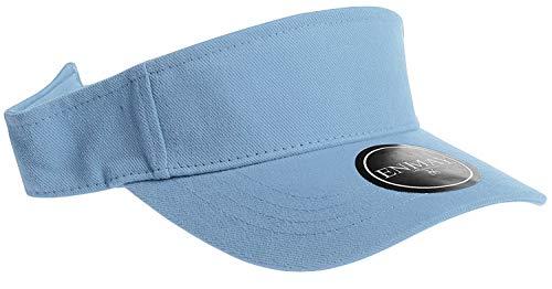 Enimay Sports Tennis Golf Sun Hook Loop Closure Hats Velcro Adjustable Solid Bright Colors Powder Blue