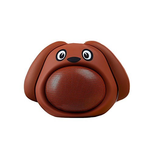 DOMA Mini Sound Puppy Cute Animal Bluetooth Speaker Brown with Extra Loud Sound and a Deluxe Gift Box - Brand Doma