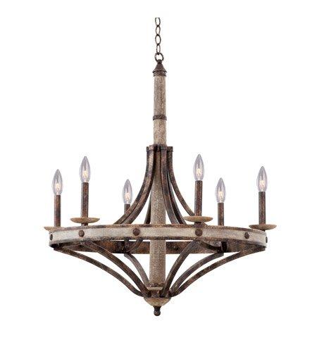 Light Six Chandelier Florence (Coronado Florence Gold Wrought Iron 30