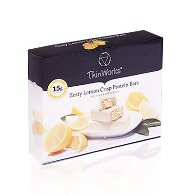 ThinWorks Zesty Lemon Crisp Low Carb Protein Bars