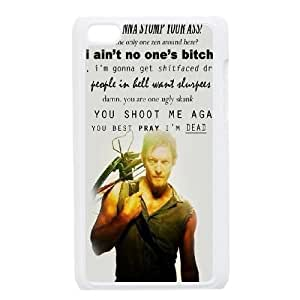 wugdiy New Fashion Cover Case for iPod Touch 4 with custom Walking Dead